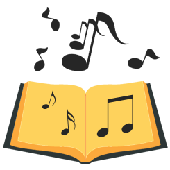 Book with Music Notes